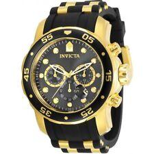 Invicta Men's Watch Pro Diver Chronograph Black Dial Two Tone Strap 30764