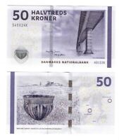 DENMARK UNC 50 Kroner Banknote (2012) P-65e Paper Money