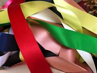 Berisfords Best Quality Double Satin Ribbon Choice of Colour & Width x 2 Metres