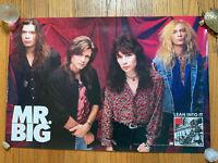 """RARE Mr. Big - Lean Into It (1991) PROMO Album Poster 20""""x 30"""" NOS RECORD STORE!"""