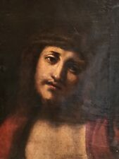 FINE 17TH CENTURY ITALIAN OLD MASTER OIL PAINTING - HEAD PORTRAIT OF CHRIST