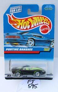 Hot wheels HW Pontiac Banshee Black collector #457 FNQHotwheels FJ595