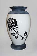 exclusif verre Urne de crémation rose blanc enterrement Urne pour adulte cendres