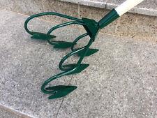Gartenhacke 5 Zinken grün Kultivator Grubber Blumenharke Kralle mit Stiel 120cm