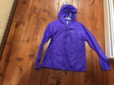 Under Armour Purple Hooded Rain Jacket in Size Youth XL