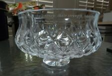 Cut Glass Crystal Bowl with Bible Verse from Isaiah