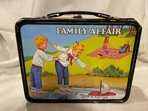 Vintage 1969 Family Affair TV Series Metal Lunchbox No Thermos