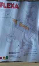FLEXA  BED SINGLE ENTRY SAFETY RAIL WHITEWASH FINISH  #7135114/80016072 NIB