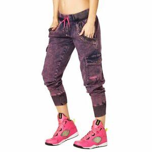 Zumba Women's Get Wild Denim Pants Pink or Green Denim Daze size S, XS, XL (C29)