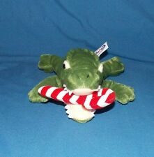 Mary Meyer Alligator Crocodile stuffed Plush with candy cane in mouth 10""