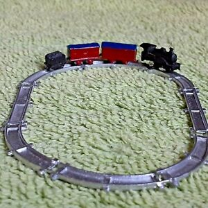 Dollhouse Miniature Vtg Toy Train Track Lot Metal Nursery Xmas Accessory 1:12