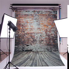 5x7ft Retro Vinyl Brick Wall Floor Photography Backdrop Studio Photo Background