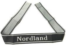 WWII GERMAN 11th WAFFEN TUNIC SLEEVE BEVO CUFF TITLE- NORDLAND