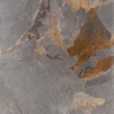 Terrassenplatten Slate Multicolor Natursteinoptik Feinsteinzeug 60x60x2 cm