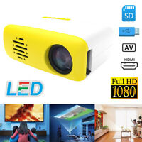 CS03 1080P Home Theater Cinema USB HDMI AV SD Mini Portable HD LED Projector