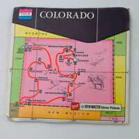 Vintage View-Master Reels Set Packet A320 COLORADO State Tour Series