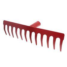 Metal 12 Tine Hand Cultivator Rake Tool Head Red CX