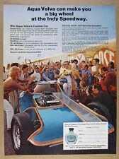 1971 Dave Puhl Illusion Show Car photo Aqua Velva Sweepstakes vintage print Ad