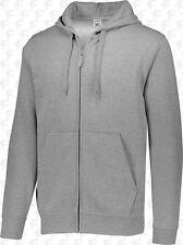 Augusta Fleece Full Length Zipper Hoodie - Charcoal Heather 3XL - New