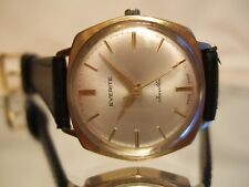 Men's RARE Vintage EVERITE SWISS MADE GOLD PL SLIM Mechanical Hand Wind Watch!