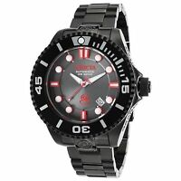 Invicta Men 19809 Pro Diver Charcoal Dial Automatic Dial Black Ion-plated Watch