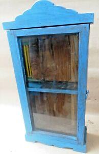 Remade Wood Almira Single door wall mount display cabinet handy medical storage