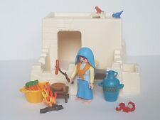 Playmobil Égypte Noël Maison Blanc Égypte avec Pastora et Accessoires, Crèche