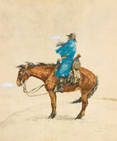 Frederic Remington Cold Day On Picket Wall Art Print Canvas Painting Repro Small