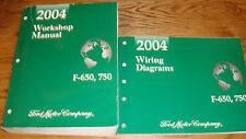 2004 Ford Truck F-650 F-750 Shop Service Manual + EVTM Wiring Diagram Set 04