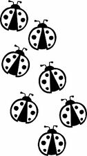**Lady Bugs lot of 7 Vinyl Decal Home Wall Decor **