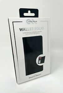 """Case Mate Wallet Folio Leather ID Credit Card Case for iPhone X & XS 5.8"""" BLACK"""