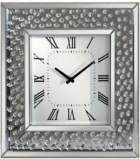 Sparkle Bling Diamond Floating Crystal Wall Clock Luxury Celebrity Interiors
