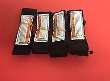 Basic Bodyboard Leash Pack de 4 Nylon Velcro Laisse 4 x 3 ft (environ 0.91 m) droite laisse