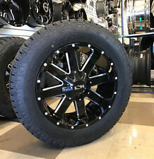 """20"""" Ion 141 Gloss Black Wheels 33"""" Toyo AT2 Tires Package 5x150 Toyota Tundra"""