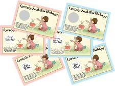 BELLE & BOO and PERSONALIZED SCRATCH OFFS PARTY GAMES CARDS BIRTHDAY GAME FAVORS