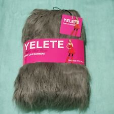 NEW Furry Leg Warmers Trim Fur Toppers Rave Wear Gray Grey Boot Covers ONE SIZE