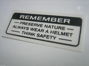 Honda CB CL SL TL XL 70 100 125 XR75 S110 Label Drive Caution Mark Fuel Gas Tank