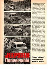 1967 KAISER JEEPSTER CONVERTIBLE ~ ORIGINAL 5-PAGE ROAD TEST / ARTICLE / AD