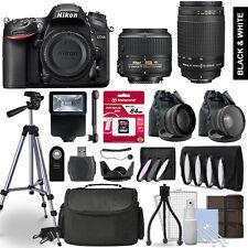 Nikon D7200 SLR Camera 4 Lens Kit 18-55 + 70-300mm + 64GB Multi Accessory Bundle