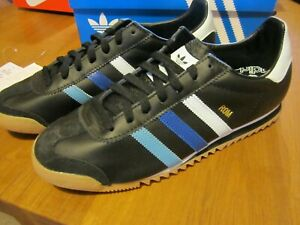 bnwt adidas originals rom trainers size 9.5uk black gum sole