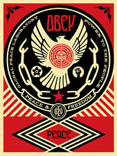PEACE & FREEDOM DOVE s/n screen print and shepard fairey obey giant  *SOLD OUT