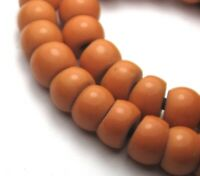 31 SMALL ORANGE PADRE AFRICAN TRADE GLASS BEADS >