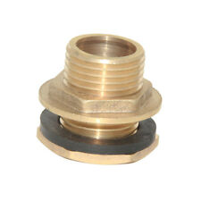 "DN15 (NPT 1/2"") Brass Hose Connector Pipe Fittings for Water Tank Cistern"