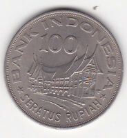 100 Rupiah Indonesien 1978 Minangkabu Haus Indonesia prima Erhaltung