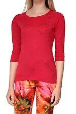 3/4 Arm Damen-Pullover aus Baumwolle ohne Verschluss