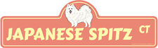 Japanese Spitz Dog Decal | Dog Lover Decor Vinyl Sticker