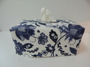 Tissue Box Cover Wedgewood Blue with Circle Opening - Great Gift!