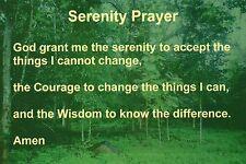 """Serenity Prayer, """" God Grant """" Inner Peace 12-Step Program Religious  - Postcard"""