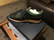 Men's Cole Haan Wingtip Nike Lunar Dress shoe Green Black 11.5 Saddle