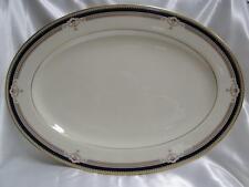 "Lenox Buchanan, Presidential, Cobalt, Gold Trim: Oval Serving Platter 16"" AS IS"